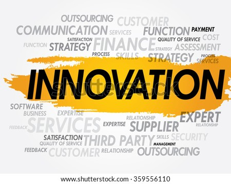 INNOVATION word cloud, business concept background - stock photo