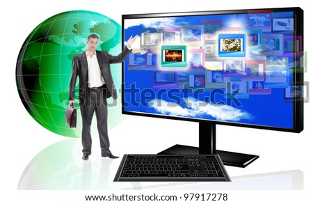Innovative computer technologies. The concept the Internet - stock photo