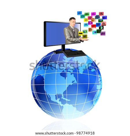 Innovative computer the technology Internet. - stock photo