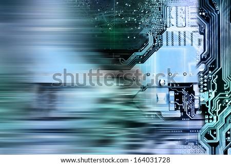 Innovative globalization computers engineering technologies - stock photo