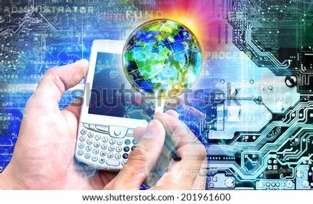 Innovative internet. Education - stock photo
