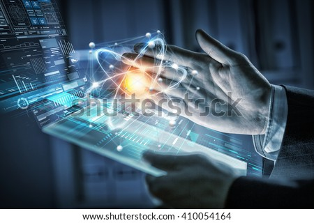 Innovative technologies in science and medicine - stock photo