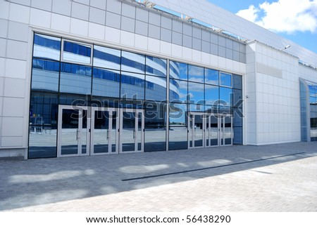 Input in modern office building - stock photo