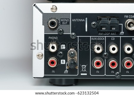 Input interface on a hifi stereo equipment