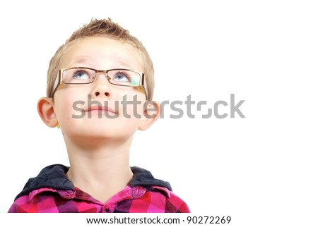 Inquisitive boy  Inquisitive boy - stock photo