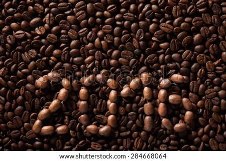 Inscription 2016 from coffee beans, can be used as background - stock photo