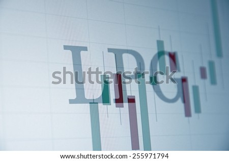 "Inscription ""Liquefied petroleum gas"" (LPG) on PC screen. Business concept. - stock photo"