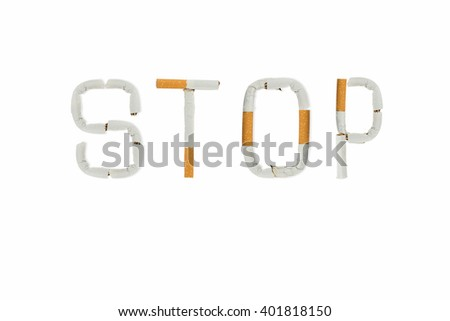 inscription quit tobacco from cigarettes - stock photo