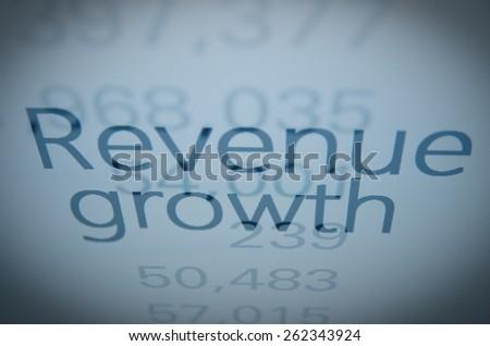 "Inscription ""Revenue growth"" - stock photo"