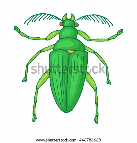 Insect bug icon in cartoon style isolated on white background - stock photo