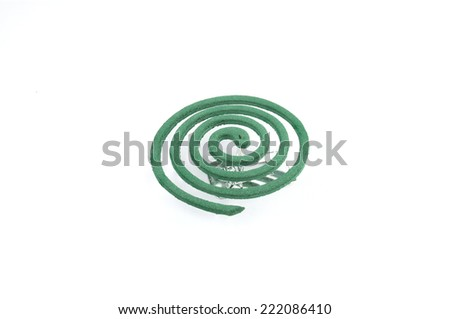 Insect repellents coil on white background - stock photo