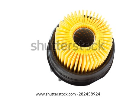 insert the engine oil filter with housing - stock photo