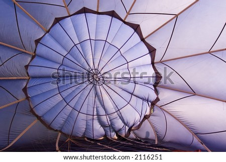 Inside a hot air balloon - stock photo
