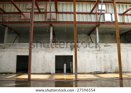 Inside a large industrial construction site
