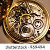 Inside a Pocket Watch - stock photo