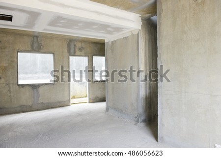 Inside building under construction