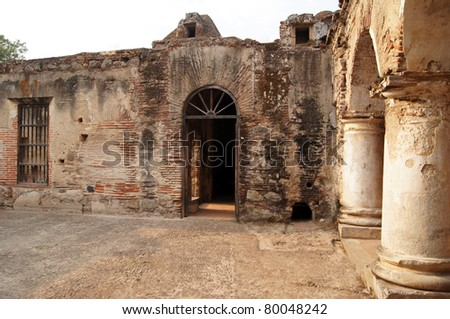 Inside convent capuchinos - stock photo
