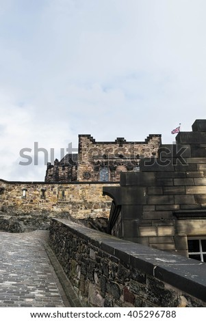 Inside Edinburgh castle in Scotland, Great Britain, United Kingdom - stock photo