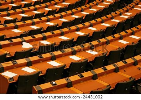 Inside European Parliament.Brussels.Belgium - stock photo