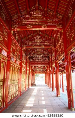 Inside Forbidden Purple City, Hue, Vietnam - stock photo
