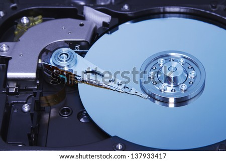 Inside hard drive,concept computer and technology