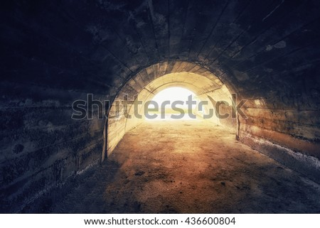 inside of a grungy tunnel