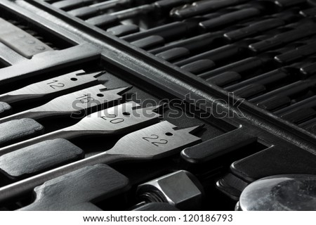 Inside of a tool box background