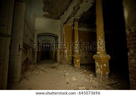 Inside Of Old Creepy Abandoned Mansion Former Manor Karl Von Meck Tula Region