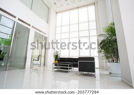 Inside of space in modern office