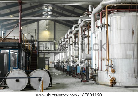 Inside of sugar factory  - stock photo