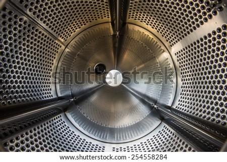 Inside of Washing Machine close-up - stock photo