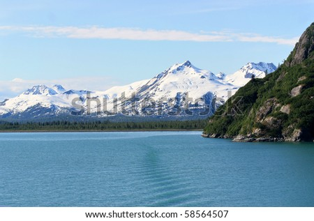 Inside Passage of Alaska - stock photo
