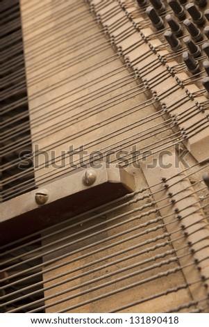 Inside piano - stock photo