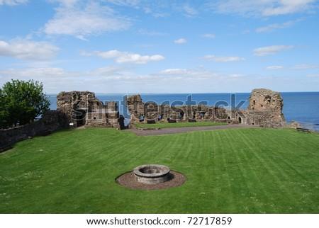 Inside St. Andrews Castle - stock photo