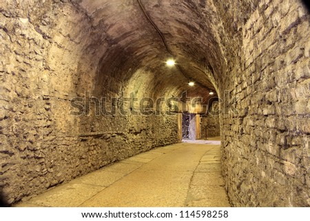 Inside the arena of Verona, Italy - stock photo