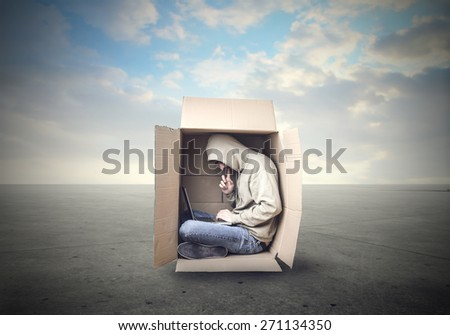 Inside the box  - stock photo