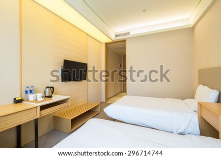 inside the hotel standard room , express by holiday inn - stock photo