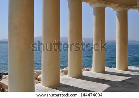 Inside the lighthouse, Argostoli, Greece - stock photo