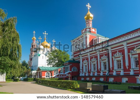 Inside the Novodevichy convent in Moscow, Russia - stock photo
