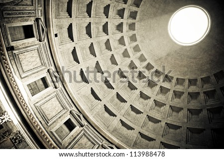Inside the Pantheon, Rome, Italy - stock photo
