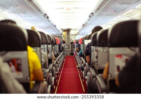 inside the plane - stock photo