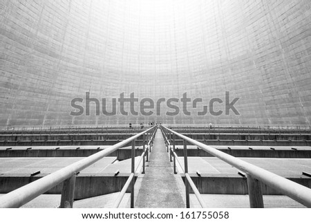 Inside the Reactor Cooling Tower - stock photo