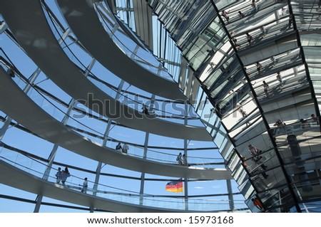 Inside the Reichstag Dome, Berlin