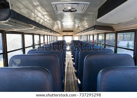 Interior Old School Bus Stock Photo 75390202 Shutterstock