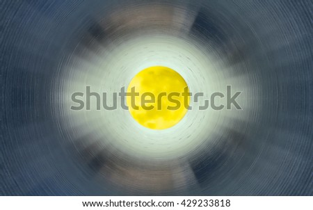 Inside the tunnel - stock photo