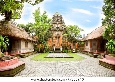 Inside the Ubud palace, Bali, Indonesia - stock photo