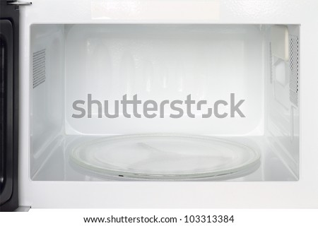Inside view of microwave oven - stock photo