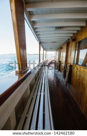 inside view of sailing cruise - stock photo