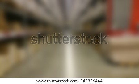 Inside warehouse in blurred background  - stock photo