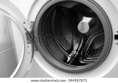 inside washing machine macro shot
